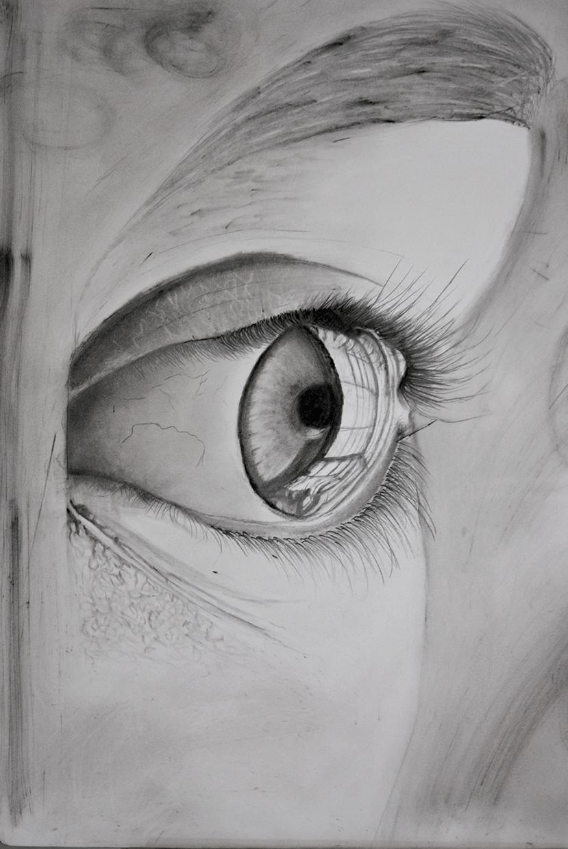 Girl Eye Closeup Art